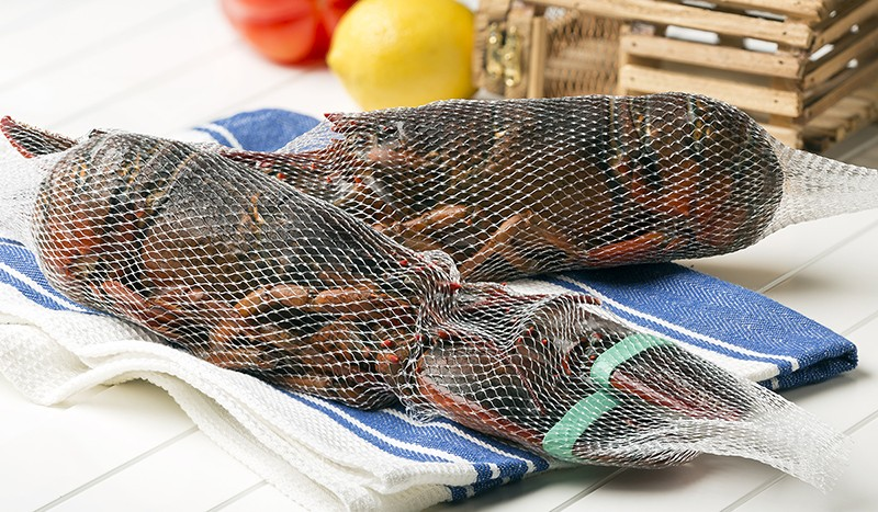 Whole Raw Netted Lobsters, Frozen